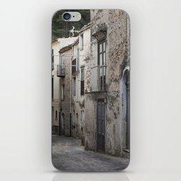Sicilian Alley in Caltabellotta iPhone Skin