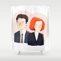 mulder Shower Curtains featuring Always Seek The Truth by Nan Lawson