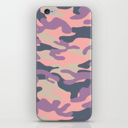 Pink Military Camouflage Pattern iPhone Skin