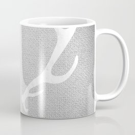 White & Grey Antlers Coffee Mug