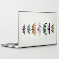 techno Laptop & iPad Skins featuring Techno-Moth Collection by Zeke Tucker