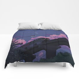 Moonrise twilight Comforters