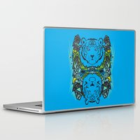 tigers Laptop & iPad Skins featuring Tigers #3 by Ornaart