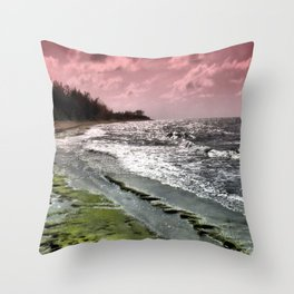 Slippery Beach Wonder Throw Pillow