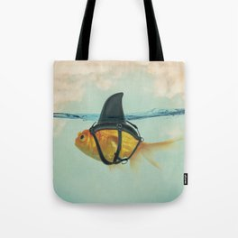 Goldfish with a Shark Fin RM02 Tote Bag