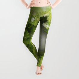 Heart of Stone Peridot Geode Leggings