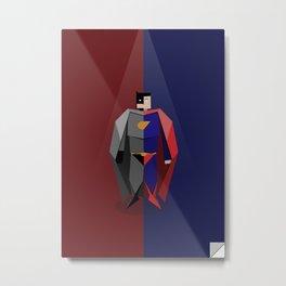 Origamen: Super vs. Bat Metal Print
