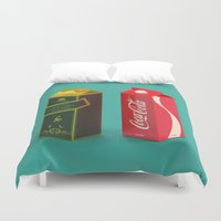 whisky Duvet Covers featuring Whisky Cola by Maxim Kirienko Art