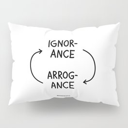 Ignorance and Arrogance Pillow Sham