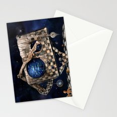 Aqua Space Stationery Cards