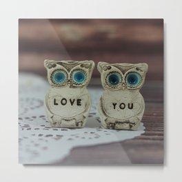Love you owls Metal Print