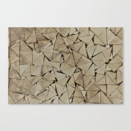 broken glass texture Canvas Print