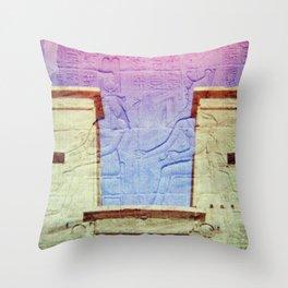 Egyptian Hieroglyphic Face Throw Pillow