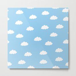 White clouds in blue background Metal Print