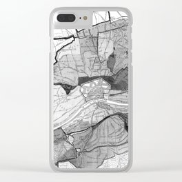 Vintage Map of Frankfurt Germany (1905) BW Clear iPhone Case