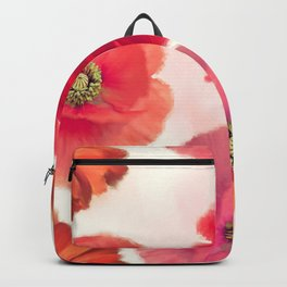 seamless   pattern of red flowers Backpack