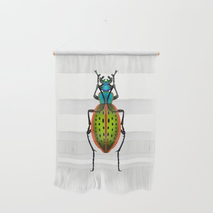 Green Dot Beetle Wall Hanging