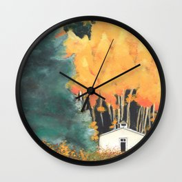 Chapel in the woods Wall Clock