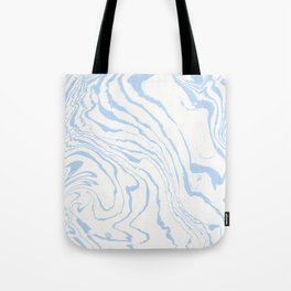Vintage pastel blue white stylish marble Tote Bag