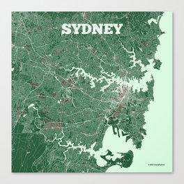 sydney australia street map canvas print