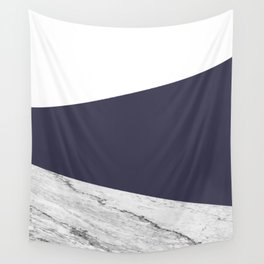Marble Eclipse blue Geometry Wall Tapestry