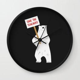 Save the Teachers Wall Clock