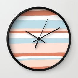 mesa, desert pastel stripes Wall Clock