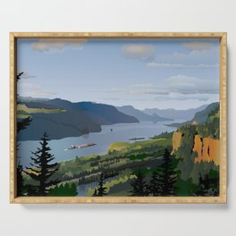 The Columbia River Gorge Serving Tray