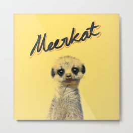 Meerkat | Yellowcard NO.1 Metal Print