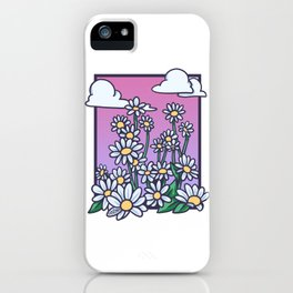 nice spring picture with flowers and clouds sky iPhone Case