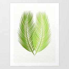 Palm leaves, Duo Art Print