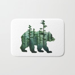 Bear and Forest Bath Mat