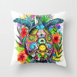 Turtle Hawaii Throw Pillow