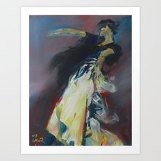 Flamenco Stance Art Print