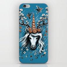 Deer Unicorn Flowers iPhone Skin
