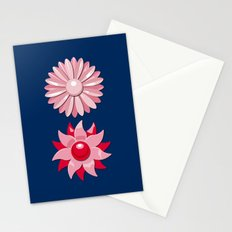 Jackie (Red on Blue) Stationery Cards