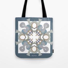 Home Sweet Home Mandala - Blue Gray Tote Bag