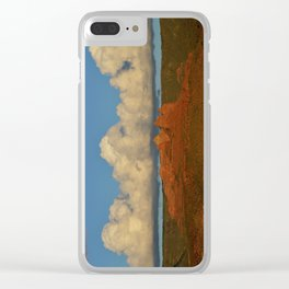 red rocks and a big cloud Clear iPhone Case