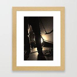 Hot Jeans Framed Art Print