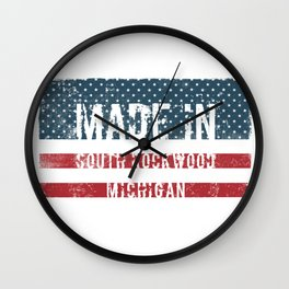 Made in South Rockwood, Michigan Wall Clock