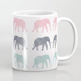 Elephant Pattern Coffee Mug