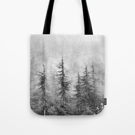 """""""Wilderness"""". Into the foggy mountains Tote Bag"""