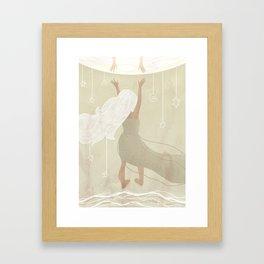 White Mirror Framed Art Print