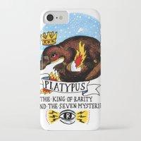 platypus iPhone & iPod Cases featuring Platypus by Ricardo Cavolo