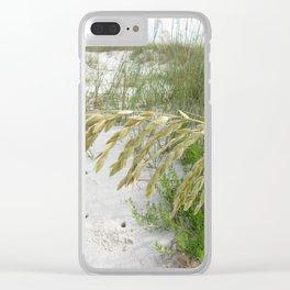 Sea Oats on Cape San Blas Beach Clear iPhone Case