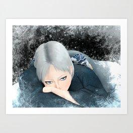 Icy Glare Art Print