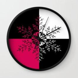 Christmas . 6 snowflake Wall Clock