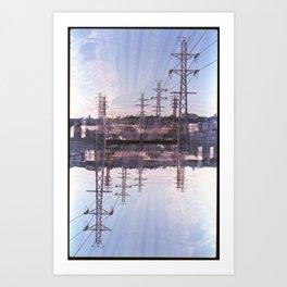 Landscapes c6 (35mm Double Exposure) Art Print