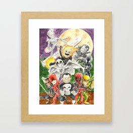 A Night Out Framed Art Print