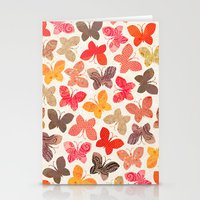 karu kara Stationery Cards featuring BUTTERFLY SEASON by Daisy Beatrice